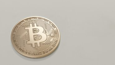 Bitcoin mønt i guld